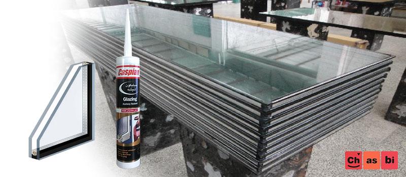 چسب سیلیکون مشکی آب بندی شیشه های دوجداره